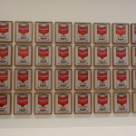 The Campbell cans by Andy Warhol