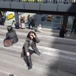Sun tanning on the High Line