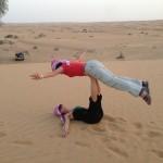 Desert yoga acrobatics